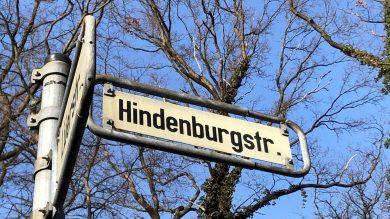 Hindenburgstraße: Bürgerinitiative klagt gegen Umbenennung