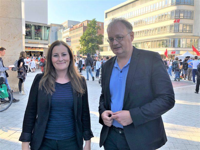 Rundblick-Chef-Redakteur Klaus Wallbaum hat die Linken-Parteivorsitzende Janine Wissler in Hannover getroffen.