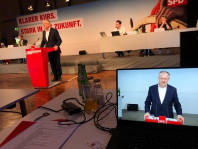 SPD-Parteitag demonstriert den Schulterschluss mit den Gewerkschaften