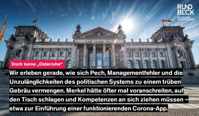 Warum Deutschland die Corona-Krise nicht vernünftig geregelt bekommen kann